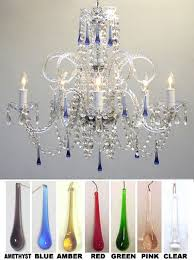All Crystal Chandelier G46 387 5 Color Murano Venetian Style All Crystal Chandelier