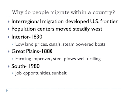 Interior Plains Population Chapter 3 Migration Introduction People Move Because Of Push