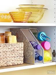kitchen organize ideas affordable kitchen storage ideas magazine files water bottles