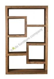 Natural Wood Bookcase Wooden Cube Bookcase Foter