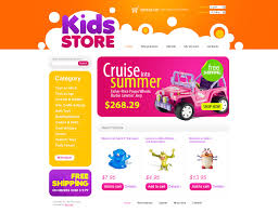 website template 24931 toys store baby custom website template