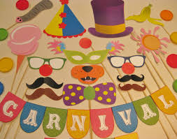 carnival decorations pdf circus carnival photo booth props decorations craft