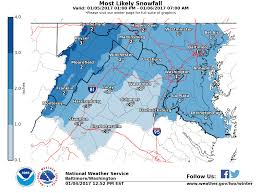Northern Virginia Map Snow Expected For Friday Morning Commute In Northern Virginia