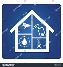 home automation system smart home automation stock vector