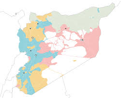 Map Of Syria And Surrounding Countries by Mapping The Targets Of The American Military Attack On Syria The