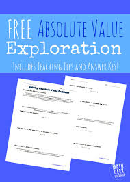 absolute value exploration making absolute value clear math