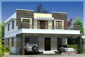 contemporary flat roof house plans