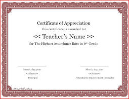 attendance certificates printable theater ticket template