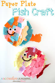paper plate fish craft paper plate fish fish crafts and ocean life