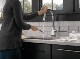 Delta Hands Free Kitchen Faucet Faucet Com 9183t Ar Dst In Arctic Stainless By Delta