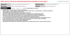 medical appliance technician job title docs