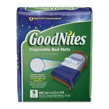 Bed Rug Liner Amazon Com Goodnites Disposable Bed Pads For Nightime Bedwetting
