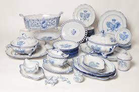 a galle ceramic dinner set c 1870 by emile gallé 1846