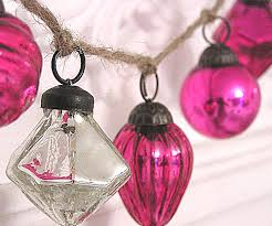 cutepinkstuff and more mercury glass ornaments