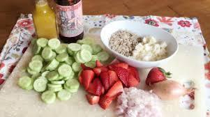cucumber and strawberry salad with short u0027s soft parade vinaigrette