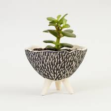 unique plant pots black and white pottery planter textured ceramics ceramic