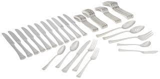 modern flatware sets amazon com lenox portola 65 piece flatware set flatware sets