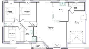plan maison 3 chambre plain pied plan de maison en l plain pied gratuit plans maisons
