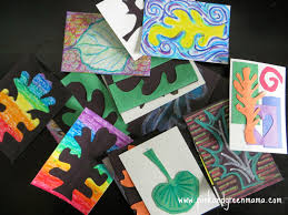 kid friendly thanksgiving crafts pink and green mama leaf themed artist trading cards a multi
