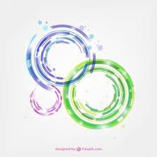imagenes abstractas con circulos círculos abstractos de colores descargar vectores gratis