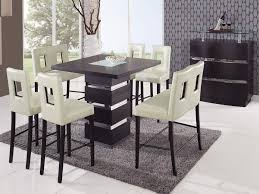 Counter Height Dining Room Table Sets Home 5 Pc Modern Wooden Counter Height Dining Room Table U0026 Chairs