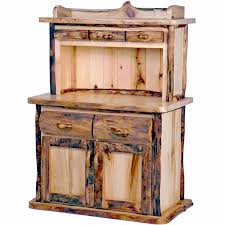 Kitchen Hutch Cabinet Aspen Log Kitchen Hutch Mountain Woods Log Furniture Hutches