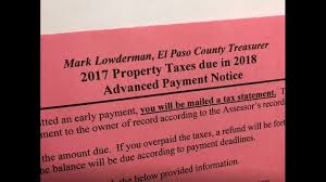 El Paso Property Tax Records To Pay Property Taxes Friday In Colorado Springs Krdo