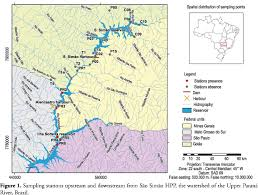 parana river map hydrological stress as a limiting factor of the of