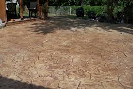 Outdoor Concrete Patio Designs Decorating Sted Concrete Patio For Landscaping Design Ideas