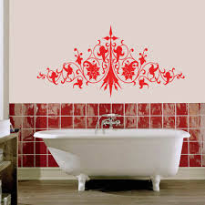 bathroom wall decals and art ideas decoration furniture image of bathroom wall decals murals flower
