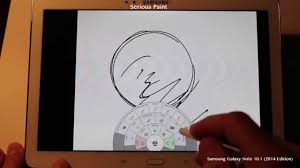 serious paint drawing app test on samsung galaxy note 10 1 2014