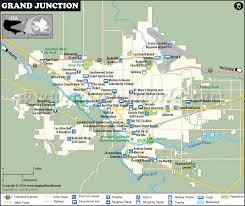 grand junction map map of grand junction colorado