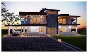 luxury contemporary house elevation plan amazing architecture