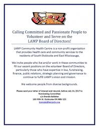 Resume For Board Of Directors Serve On The Lamp Board Of Directors Lamp Community Health Centre
