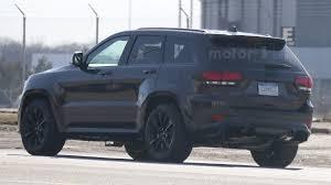 blue camo jeep jeep grand cherokee trackhawk u0027s monster motor spied