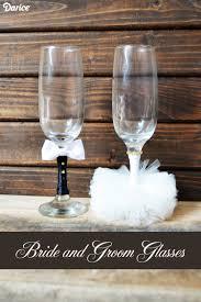 halloween wedding toasting glasses wedding crafts diy bride and groom glasses darice