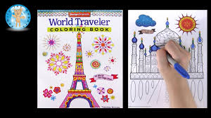 design originals world traveler coloring book taj mahal