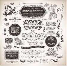 retro labels and ornaments vector set ornament pixempire
