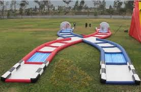 Outdoor Inflatables Wonderful Zorb Race Track Pvc Tpu Material