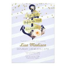 Nautical Bridal Shower Invitations Classy Hen Party Invitations U0026 Announcements Zazzle Co Uk