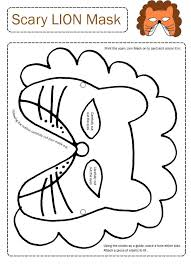 lion mask printable tags lion masks print draw amimals