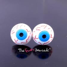 funky earrings funky stud earrings spooky retro kitsch cool evil dress