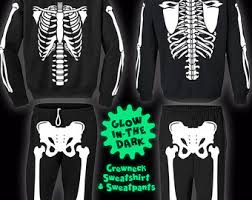 Glow Dark Halloween Costumes Skeleton Costume Etsy