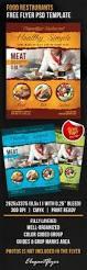 food restaurants u2013 free flyer psd template u2013 by elegantflyer
