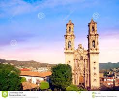 Taxco Mexico Map by Church Of Santa Prisca In Taxco Mexico Stock Photo Image 69419351