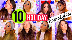 10 quick and easy hairstyles for the holidays niki and gabi youtube