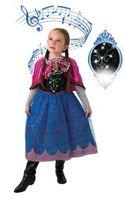 Toddler Light Up Halloween Costumes Rubie U0027s Official Disney Frozen Musical And Light Up Anna