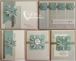 blossom legacies snowflake winter card kit back by popular