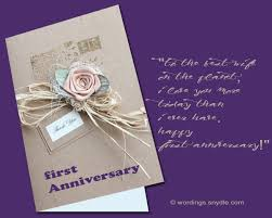 Anniversary Card For Wife Message 1st Wedding Anniversary Messages Wordings And Messages