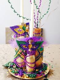 be inspired by color centerpieces mardi gras and masking